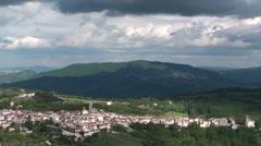 Sant'elena Sannita, province of Isernia, Molise Italy Stock Footage