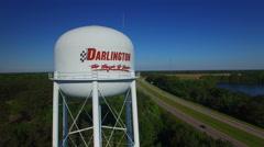 Darlington SC Water Tower Stock Footage