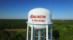 Darlington SC Water Tower Fly around Stock Footage