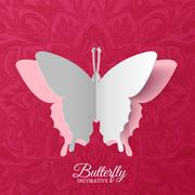 beautiful colorful butterfly background concept. Vector illustration template - stock illustration