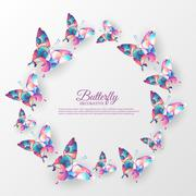 Beautiful colorful butterfly background concept. Vector illustration template Stock Illustration