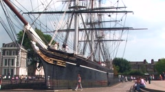 Bow view of the Cutty Sark Stock Footage