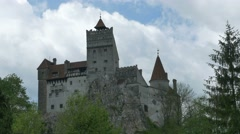 Dracula Fortress in Mountains Stock Footage