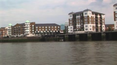 Waterfront apartments complexes Stock Footage