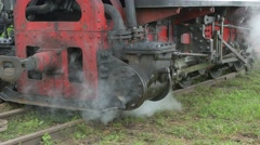 Steam Train Drive Frame Stock Footage