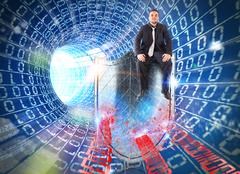 Firewall internet - stock photo