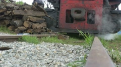Stopped Steam Train Stock Footage