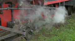 Steam Out of Locomotive Pipes - stock footage