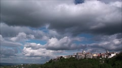 Frosolone, province of Isernia, Molise Italy, time lapse Stock Footage