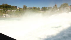 Rhine falls in Schaffhausen, Switzerland Stock Footage