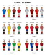 Football championship. National team players uniform. Soccer Stock Illustration