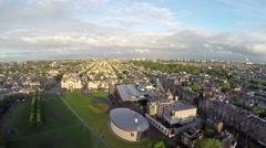 Aerial Amsterdam Museumplein Van Gogh Museum an art museum 4k Stock Footage