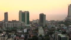 Colombo skyline at sunset, Sri Lanka Stock Footage