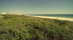 Pan Of Private Beach at Panama City Beach - stock footage