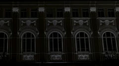 3d Show on the Wall of Building. - stock footage