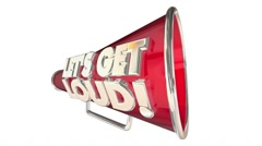 Lets Get Loud Applause Volume Audience Bullhorn Megaphone - stock footage