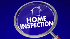 Home Inspection Magnifying Glass House Safety Check 3d Animation Stock Footage
