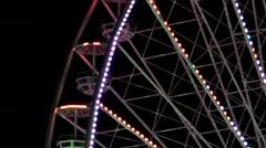 Ferris Wheel in the Night. Stock Footage