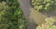 Aerial View Of Danube Stock Footage
