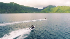 Jet-Skiing in the Pacific Stock Footage