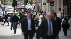 Multicultural crowd on Piccadilly Circus, London - stock footage