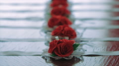Six Red Rose Corsage For the Female's Wrist - stock footage