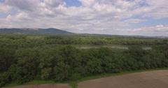 Aerial View Of Danube Stock Footage
