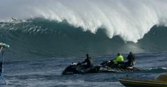 4K: Big Wave Crashing Shot From Water Level Stock Footage