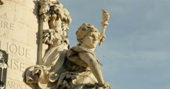 Detail of Monument de la Republique Stock Footage