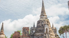 Temple Wat Phra Si Sanphet large measure remains beautiful. - stock footage
