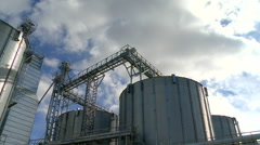 Plant for the production of feed for animals timelapse Stock Footage