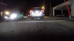 GoPro attached to bumper of car at night - 05 - stock footage