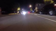 GoPro attached to bumper of car at night - 03 Stock Footage