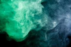 Abstract blue-green smoke hookah. - stock photo