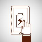 battery power design - stock illustration