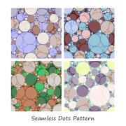 seamless dots pattern - stock illustration