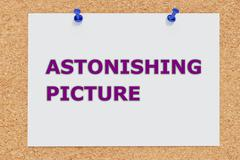 Astonishing Picture impression concept - stock illustration