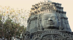Cambodian god idol statue close up - stock footage