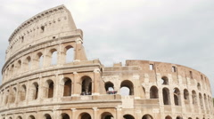 Coliseum timelapse - Beautiful antique ancient architecture of Colosseum in Rome Stock Footage