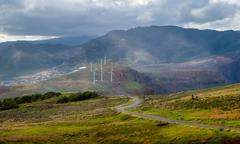 Fairy tale landscape of Madeira island Stock Photos