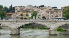 City of romance with beautiful architecture - Travel Rome Italy Stock Footage