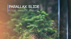 Parallax Slideshow Movie Trailer and Titles Displays Photo Gallery Stock After Effects