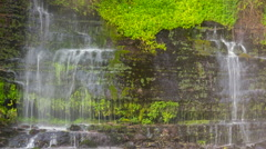 Waterfall running down a rock face. Time-lapse, Ecuador Stock Footage
