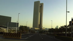 On Board Camera On A Car in Manama City - Bahrain Bay Stock Footage