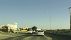 On Board Camera On A Car in a typical Arab neighborhood. Bahrain 04 Stock Footage