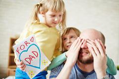 For dear dad - stock photo