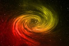 Abstract galaxy swirl in deep space. beautiful banner wallpaper design illust Stock Illustration