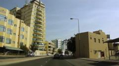 On Board Camera On A Car in Adliya Neighborhood, Bahrain Stock Footage