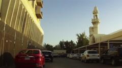 On Board Camera On A Car in Gudaibiya Neighborhood. Bahrain 04 - stock footage