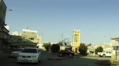 On Board Camera On A Car in a typical Arab neighborhood. Bahrain 03 - stock footage
